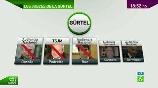 Garzón, Pedreira y Ruz, los tres jueces instructores del caso Gürtel