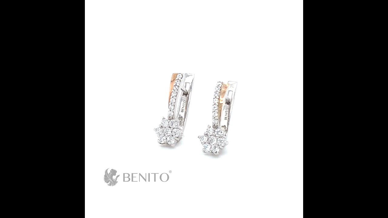 Jennifer Earrings White Zircon Stones