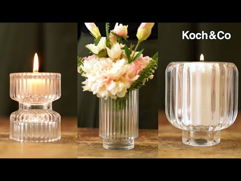 Glass Craft Ripple 2 in 1 Candle Holder Clear (8x5.6cmH)