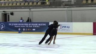 8 S. SFORZA / F. FIORETTI (ITA) - ISU JGP Istanbul 2012 Junior Ice Dance Short Dance