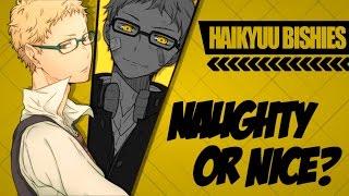 ► ❝♂ NAUGHTY OR NICE? ♂❞ || HAIKYUU BISHIES (COLLAB)