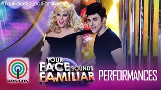 "YFSF Duet: EA & Maxene as John Travolta & Olivia Newton John - ""You're All That I Want"""