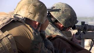 ONE SHOT ONE KILL Marine Scout Sniper kills a Taliban sniper
