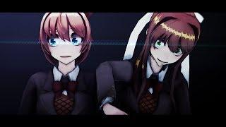 [Doki Doki Literature Club MMD] |Bad Karma|[ Sayori & Monika ]