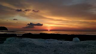 Beautiful Sunset in Beach Indonesia, Aceh, Lhoknga./ Sunset Yang Indah Dari Pantai Indonesia, Aceh