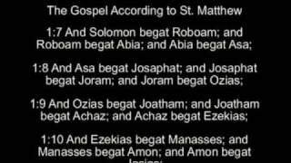 The Gospel According to St. Matthew  Chapter 1