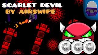 Geometry Dash - Scarlet Devil - Airswipe (VERY EASY DEMON) [2.01] [iPad Gameplay]