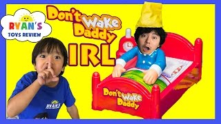 DON'T WAKE DADDY IRL CHALLENGE Family Fun Games for Kids Egg Surprise Warheads Extreme Sour Candy width=