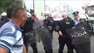 SUKOB POLICIJE I RADNIKA KOMPANIJE AGROZIV
