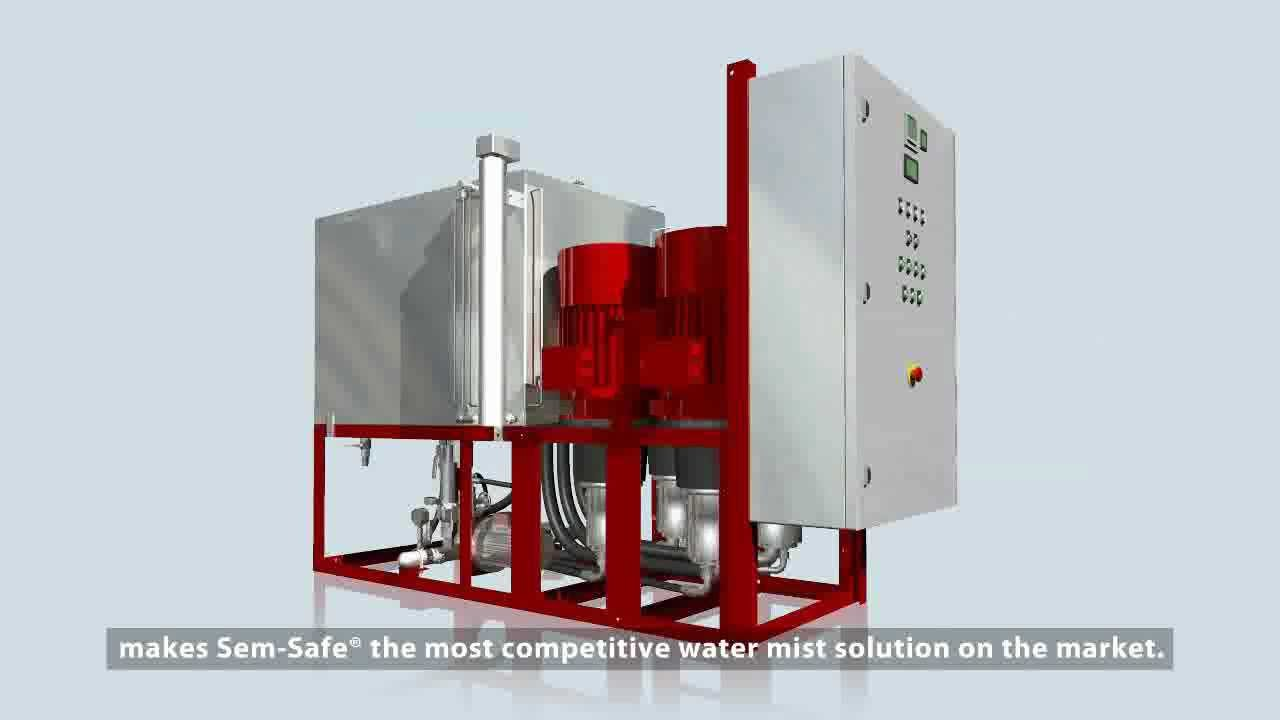SEM-SAFE® water mist for fire protection