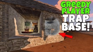 RUST | CATCHING GREEDY PLAYERS with an OPEN LOOT ROOM TRAP BASE !