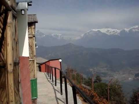 View of Mountain and Pokhara Valley from raniban retreat.