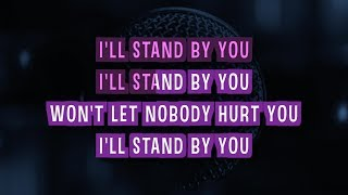 I'll Stand By You Karaoke Version by Glee Cast (Video with Lyrics)
