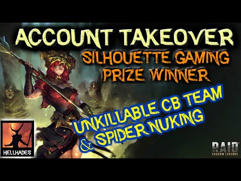 RAID: Shadow Legends | Silhouette Gaming PRIZE WINNER account takeover. UNKILLABLE CB team, Spiders!