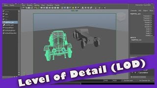Level of Detail (LOD) in Maya