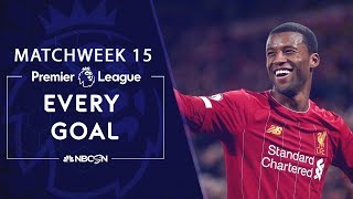 Every goal from Matchweek 15 in the Premier League | NBC Sports