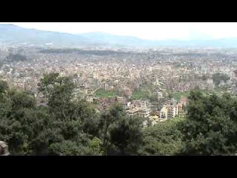 A view of Nepal from Swambhunath temple top