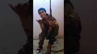 Kurdish female sniper dodges headshot; laughs it off