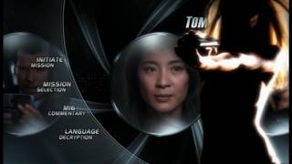 James Bond Ultimate Edition DVD menus - Tomorrow Never Dies
