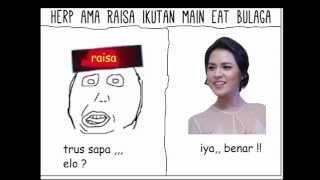 Raisa Ama Herp Ikutan Main Eat Bulaga . meme video lucu kocak
