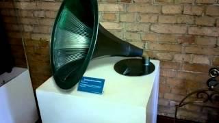 42)Museu Catavento SP 05 2014 Corneta de Gramofone Alemanha começo do século XX