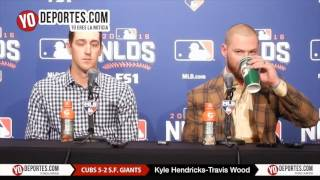Kyle Hendricks & Travis Wood Cubs 5-2 Giants National League Division Series