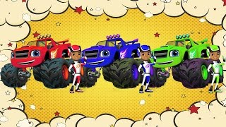 Learn Colors with Paw Patrol & Blaze Monster Machines cartoon - Colours for Kids Toddlers Videos