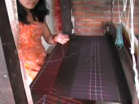Yashodha Shrestha finishing piece and finishing beginning of lungi