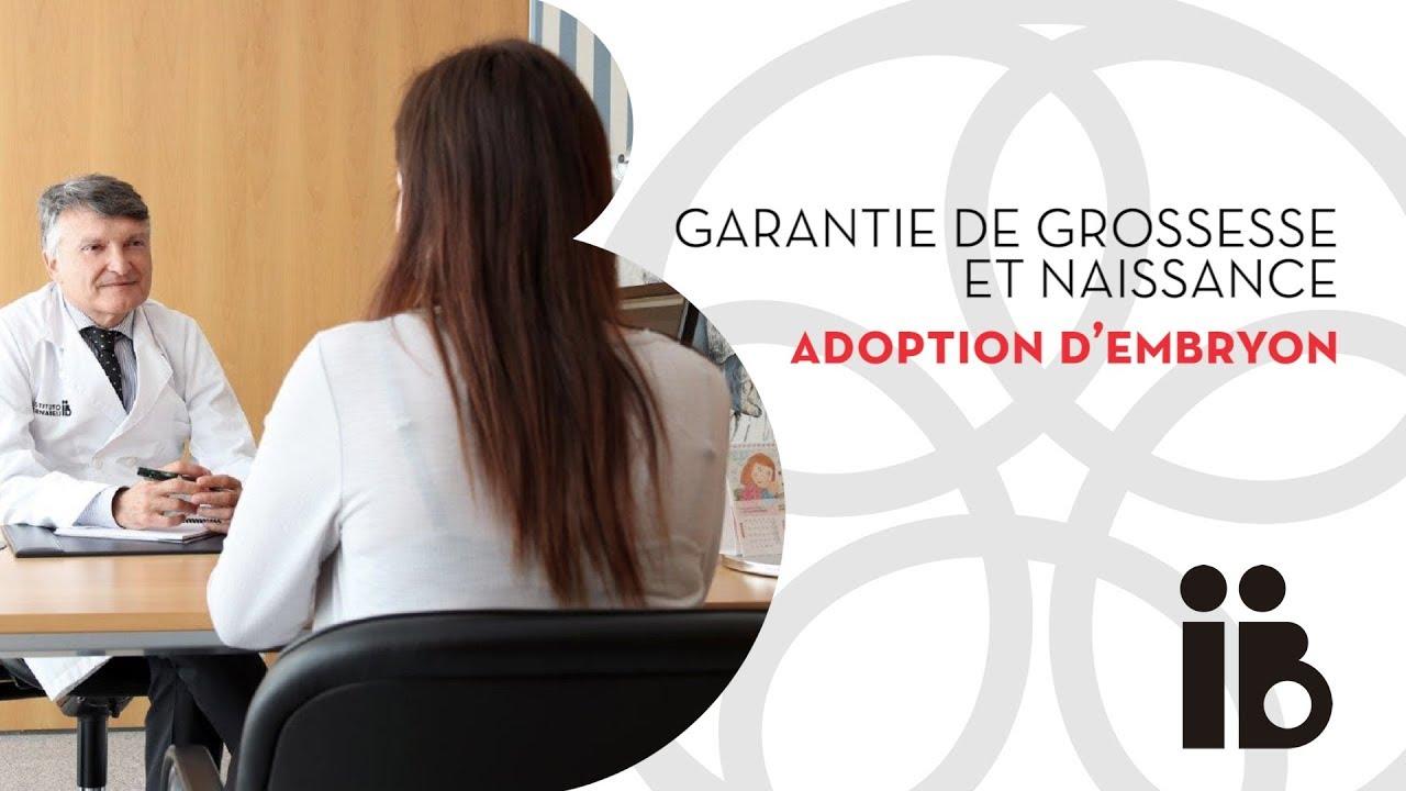 Garantie de grossesse et naissance. Adoption d'embryon