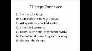 21 Steps to Become an MLM Leader.avi