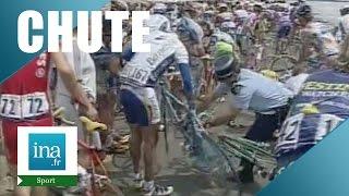 Chute sur le passage du Gois Tour de France 1999  | Archive INA