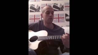 Accoustic jam with percussion on guitar body