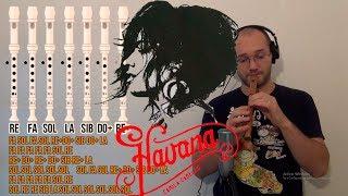Havana - Camila Cabello para flauta dulce - Tutorial -Cover + Notas