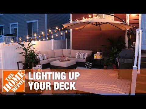 Light up your deck with these simple ideas.