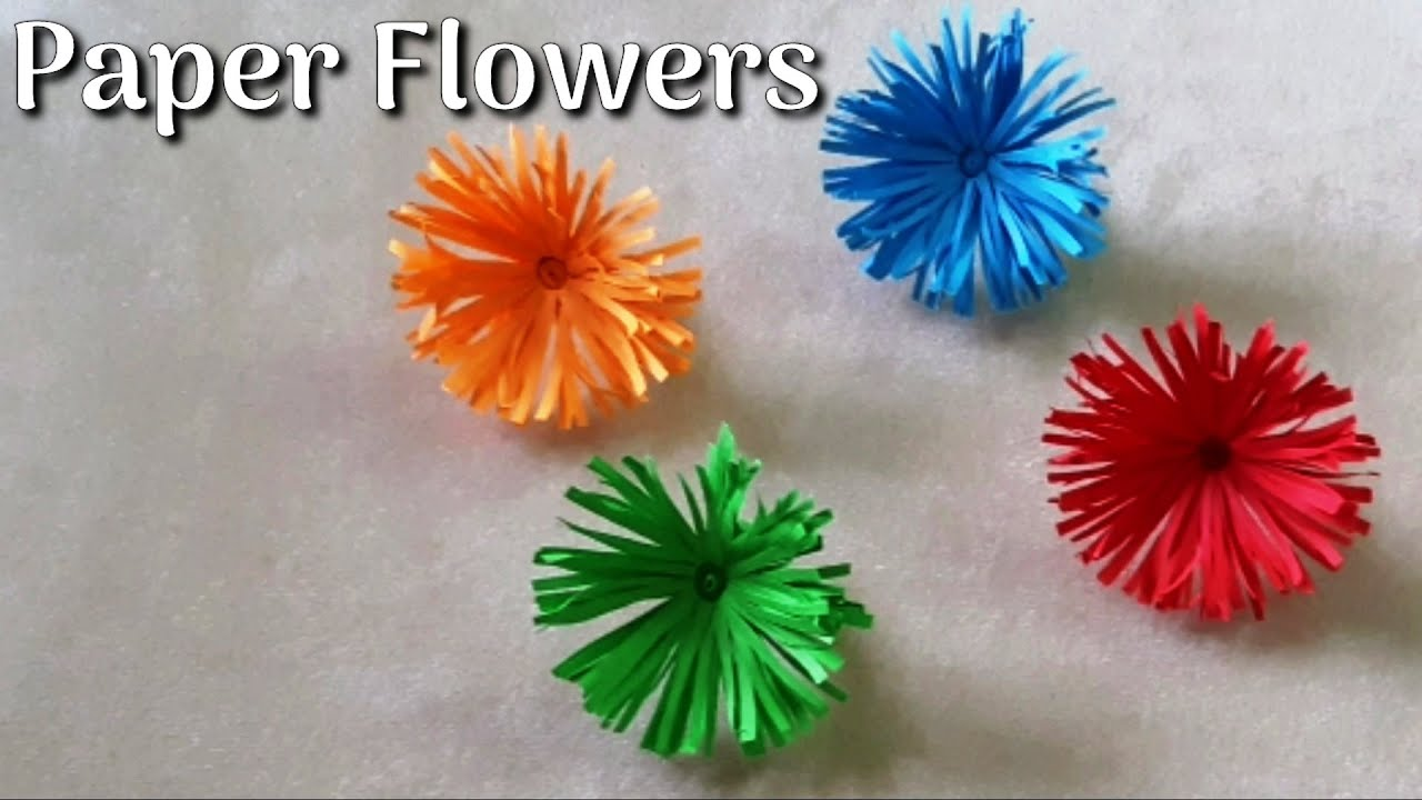 Paper Flowers - How to Make Flowers with Papers | Paper Crafts