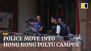 Police enter Hong Kong Polytechnic University campus to gather evidence, clear protesters