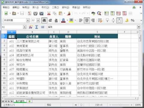 LibreOffice 教學 Calc_工作表列印之縮放頁面 pic