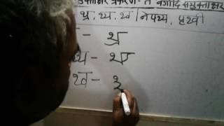 मिथिलाक्षर साक्षरता अभियानक उच्च वर्गक त वर्गादि संयुक्ताक्षरक थ अक्षरक संयुक्ताक्षरक अभ्यास