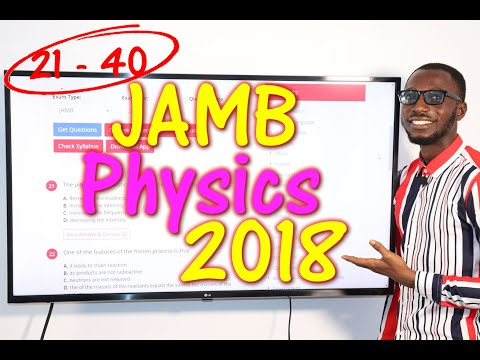 JAMB CBT Physics 2018 Past Questions 21 - 40