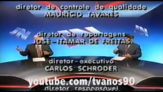 Encerramento Jornal Nacional 1995
