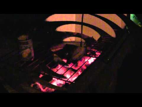 Barbecue And Campfire