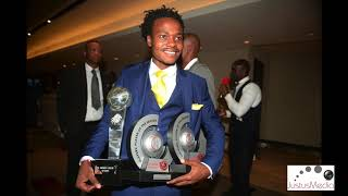 Percy Tau  and his Mother Elizabeth plus Pitso #pslawards2018