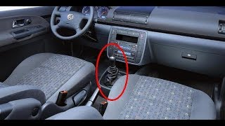 Removing the gear lever Volkswagen Sharan 2000 - 2010