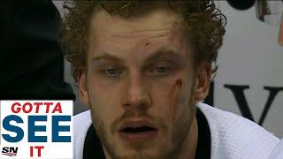 GOTTA SEE IT: Tom Wilson KOs Jamie Oleksiak, Crosby & Ovechkin Start Chirping Each Other