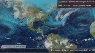 7 de marzo de 2016 Pronóstico del Tiempo