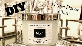 DIY Simple Home Decor Idea Glam Candle