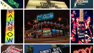Sunset Strip, Los Angeles: Whisky a Go Go, The Roxy, Rainbow Bar & Grill, Viper Room (Sunset Blvd)
