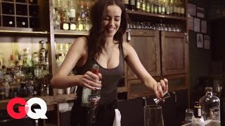 Australian Model Sarah Stephens Shows Us How to Make the Perfect Manhattan - Cocktails | GQ