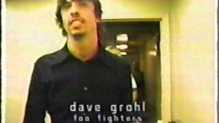 The Foo Fighters Back stage