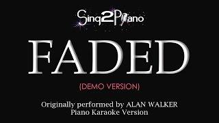 FADED (Piano karaoke demo) Alan Walker